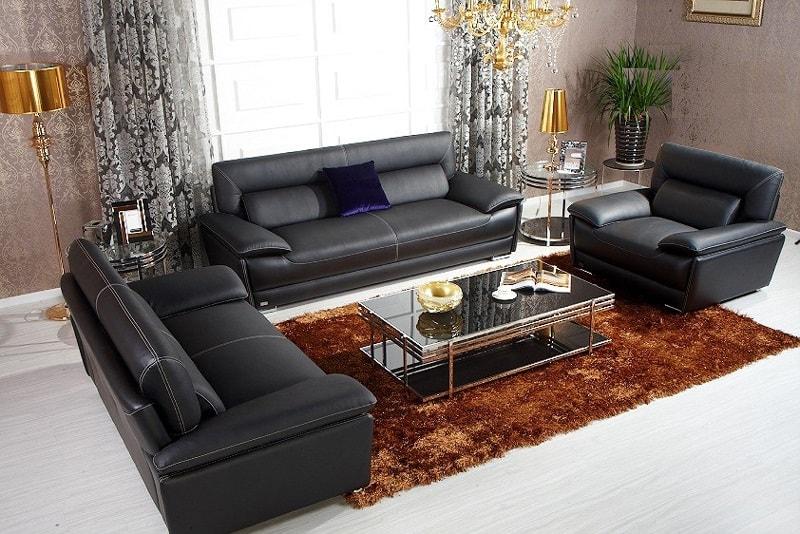 bàn ghế sofa da