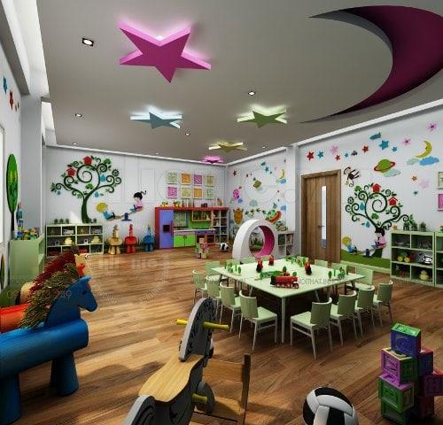 thiết kế nội thất nhà trẻ