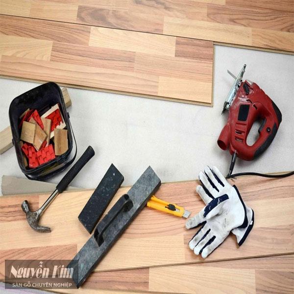 lắp đặt, thi công sàn gỗ tại nhà
