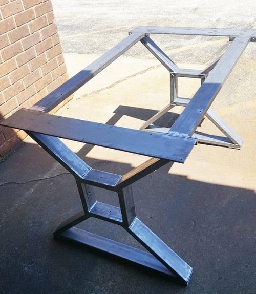 bàn ghế sắt hộp