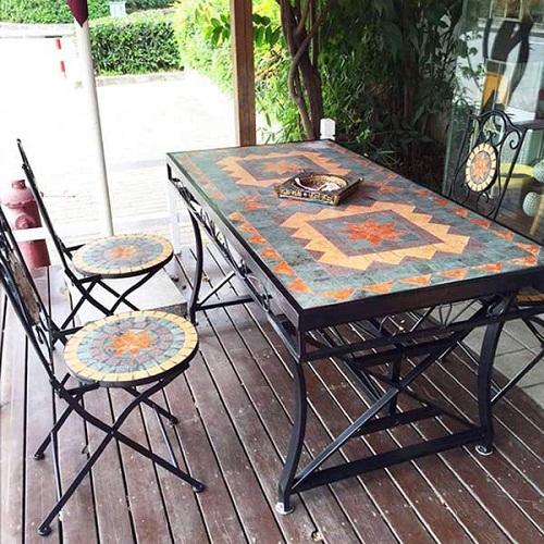 mẫu bàn ghế sắt hộp