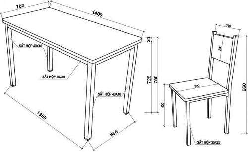 thiết kế bàn ghế