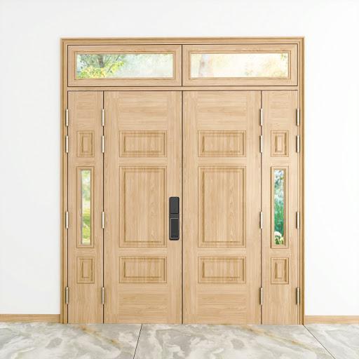 cửa thép vân gỗ