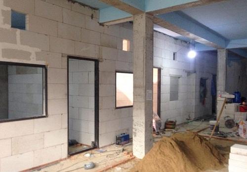 cách xây tủ âm tường bê tông